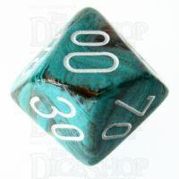 Chessex Marble Oxi-Copper Percentile Dice