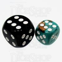 Chessex Marble Oxi-Copper 12mm D6 Spot Dice