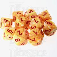 Chessex Festive Sunburst 10 x D10 Dice Set