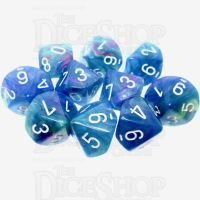Chessex Festive Waterlily 10 x D10 Dice Set