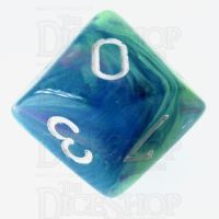 Chessex Festive Waterlily D10 Dice