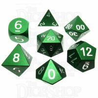 TDSO Aluminium Precision Green Dragon 7 Dice Polyset