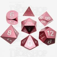 TDSO Aluminium Precision Pink Dragon 7 Dice Polyset