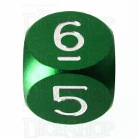 TDSO Aluminium Precision Green Dragon D6 Dice