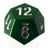 TDSO Aluminium Precision Green Dragon D12 Dice