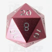 TDSO Aluminium Precision Pink Dragon D20 Dice