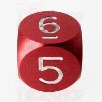 TDSO Aluminium Precision Red Dragon D6 Dice