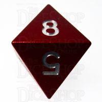 TDSO Aluminium Precision Red Dragon D8 Dice