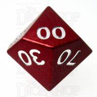 TDSO Aluminium Precision Red Dragon Percentile Dice