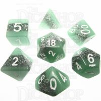 TDSO Neon Thunder Glow In Dark 7 Dice Polyset LIMITED EDITION
