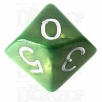 Role 4 Initiative Emerald Dragon Shimmer D10 Dice