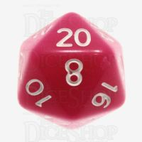 TDSO Opaque Pink D20 Dice