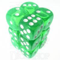 TDSO Bright Gem Emerald 12 x D6 Dice Set