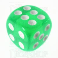 TDSO Bright Gem Emerald 16mm D6 Spot Dice