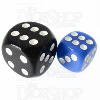 TDSO Opaque Blue 12mm D6 Spot Dice