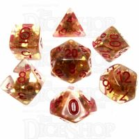 TDSO Fools Gold Clear 7 Dice Polyset