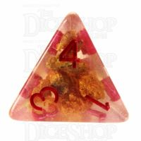 TDSO Fools Gold Clear D4 Dice