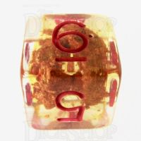 TDSO Fools Gold Clear D6 Dice
