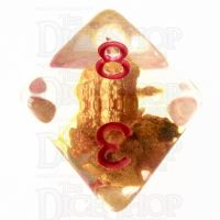 TDSO Fools Gold Clear D8 Dice