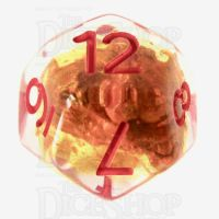 TDSO Fools Gold Clear D12 Dice