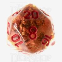 TDSO Fools Gold Clear D20 Dice