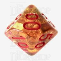 TDSO Fools Gold Clear Percentile Dice