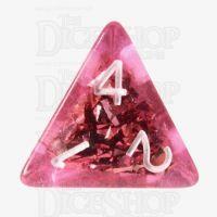 TDSO Confetti Pink & Silver D4 Dice