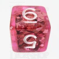 TDSO Confetti Pink & Silver D6 Dice