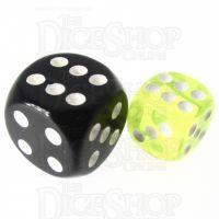 TDSO Bright Gem Citrine 12mm D6 Spot Dice