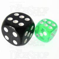 TDSO Bright Gem Emerald 12mm D6 Spot Dice
