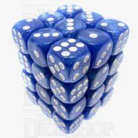 TDSO Pearl Blue & White 36 x D6 Dice Set