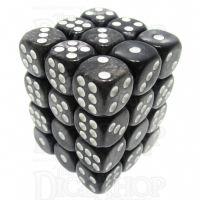 TDSO Pearl Black & White 36 x D6 Dice Set