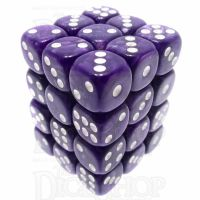 TDSO Pearl Purple & White 36 x D6 Dice Set