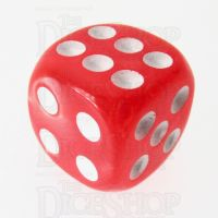 TDSO Pearl Red & White 16mm D6 Spot Dice
