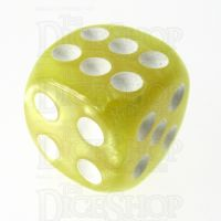 TDSO Pearl Yellow & White 16mm D6 Spot Dice