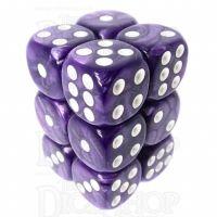 TDSO Pearl Purple & White 12 x D6 Dice Set