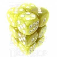 TDSO Pearl Yellow & White 12 x D6 Dice Set
