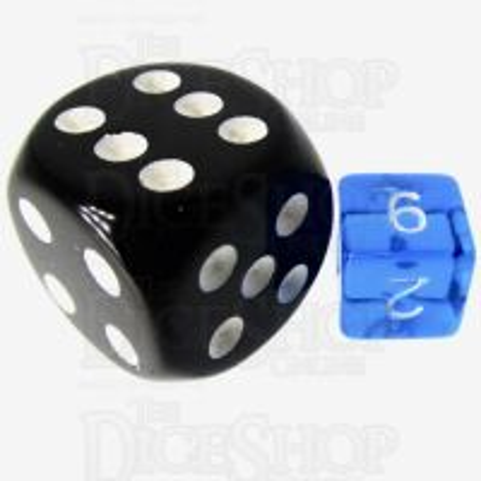 TDSO Bright Gem Sapphire MINI 10mm D6 Dice