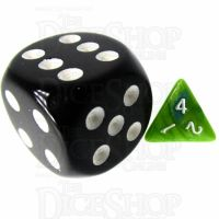 TDSO Duel Turquoise Blue & Pistachio Green MINI 10mm D4 Dice