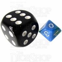 TDSO Duel Turquoise Blue & Pistachio Green MINI 10mm D10 Dice