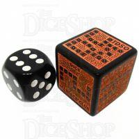 Dice Maniacs Club DMC Opaque Black & Orange TDSO EXCLUSIVE LARGE 22mm D6 Dice LTD EDITION
