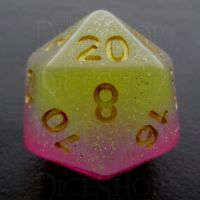 TDSO Layer Transparent Candyland Glitter D20 Dice