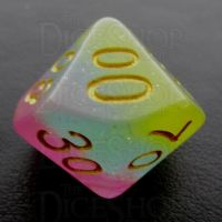 TDSO Layer Transparent Candyland Glitter Percentile Dice