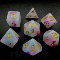 TDSO Opalescence Purple & Teal 7 Dice Polyset