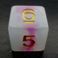 TDSO Opalescence Purple & Teal D6 Dice
