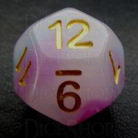 TDSO Opalescence Purple & Teal D12 Dice