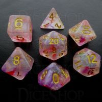 TDSO Luminous Ruby 7 Dice Polyset