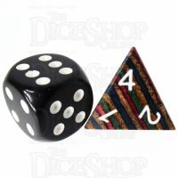 TDSO Technical Wooden D4 Dice - Large Inked
