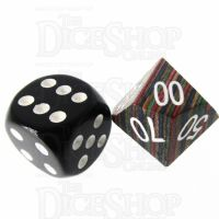 TDSO Technical Wooden Percentile Dice - Large Inked