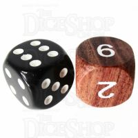 TDSO Rosewood Wooden D6 Dice - Large Inked